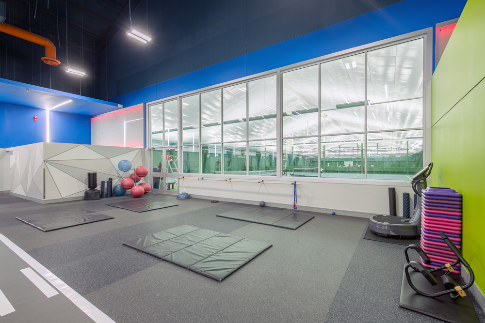 Mayfair West Gym with Tennis Courts View