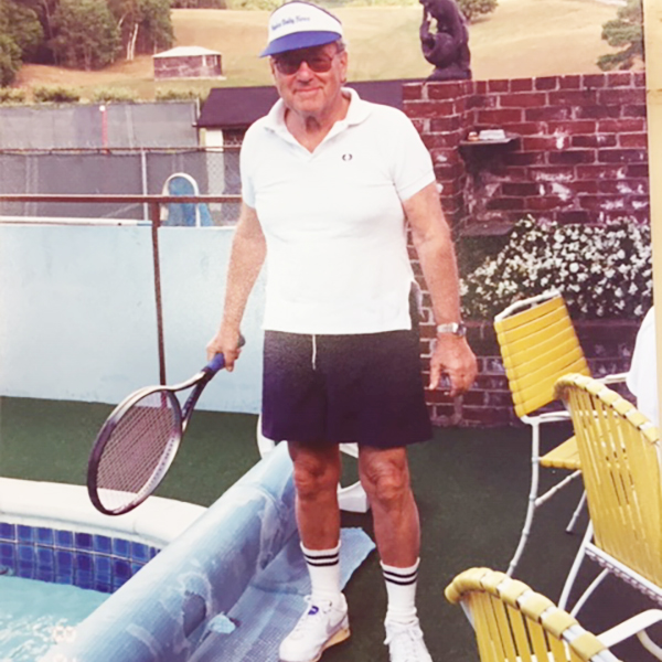 Image of Harold Soupcoff with tennis gear